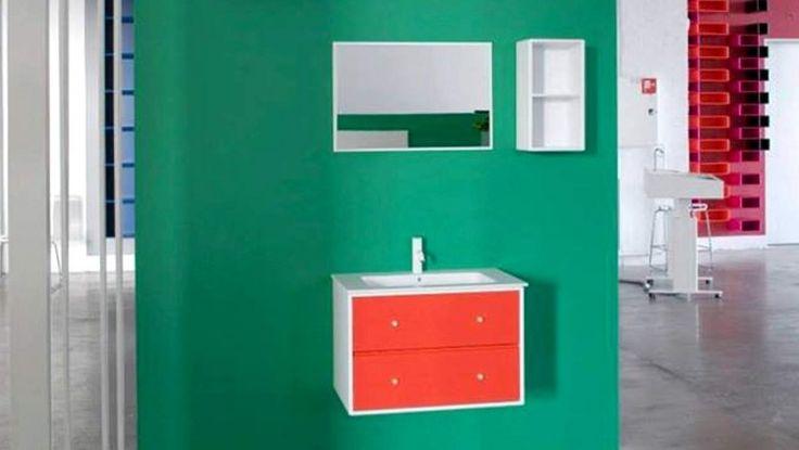 Montana Bathroom in the showroom. #bathroom #showroom #montana #furniture