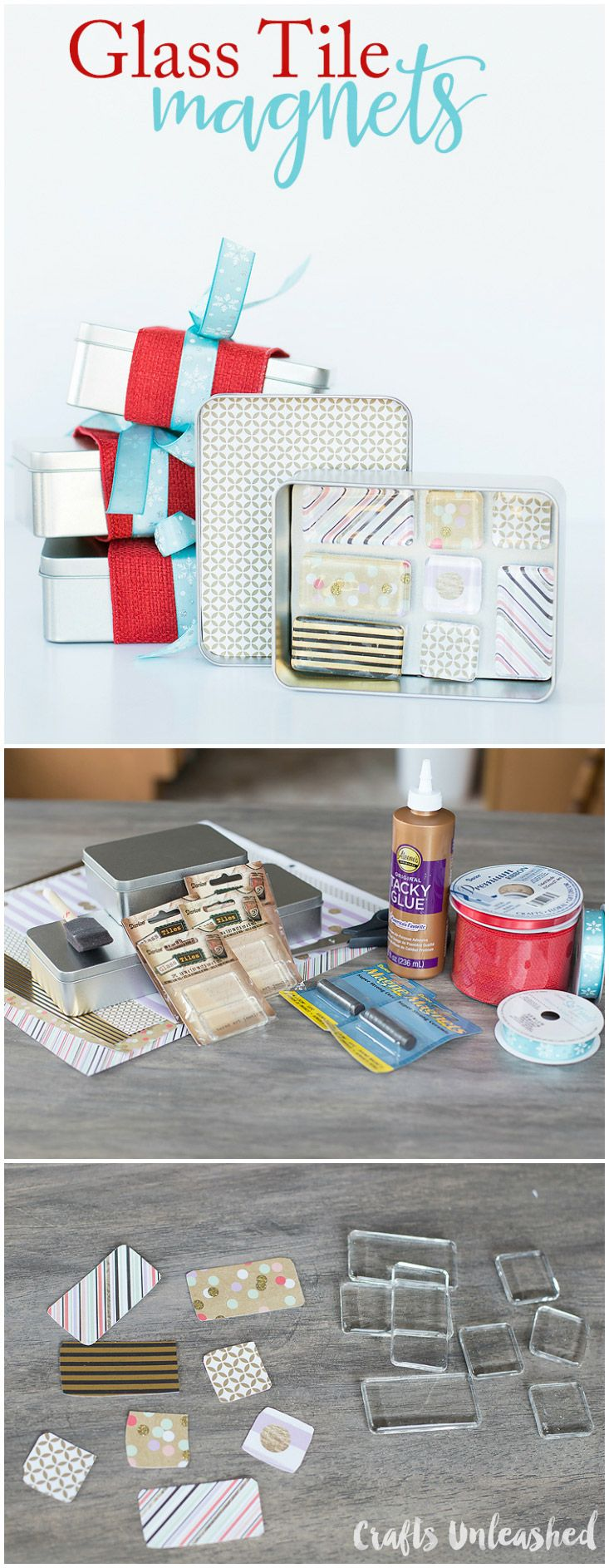 DIY Gift Idea: Glass Tile Homemade Magnets                                                                                                                                                                                 More