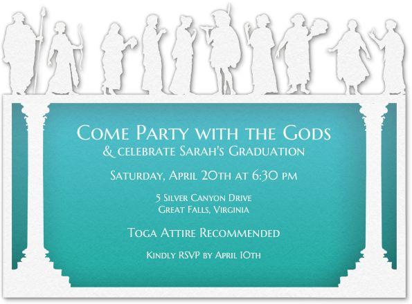 Design Your Invitation Toga Toga Party Invitations Party