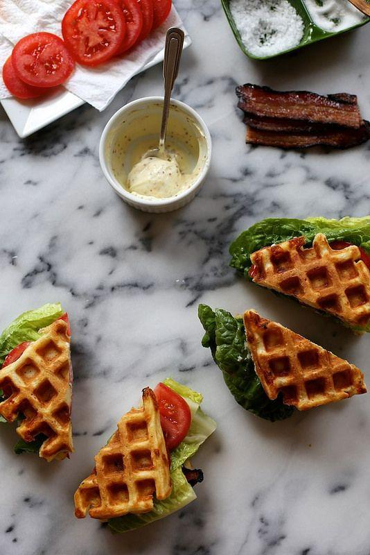 ... Waffles, Blt Sandwiches, Waffles Blts, Cheddar Waffles, Savory Waffles