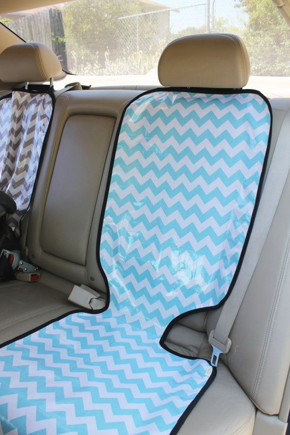 Chevron car seat protector 18x47 inches $45 by ChevronandLace on Etsy, or maybe a diy? Could also do the middle by attaching straps to the side headrests