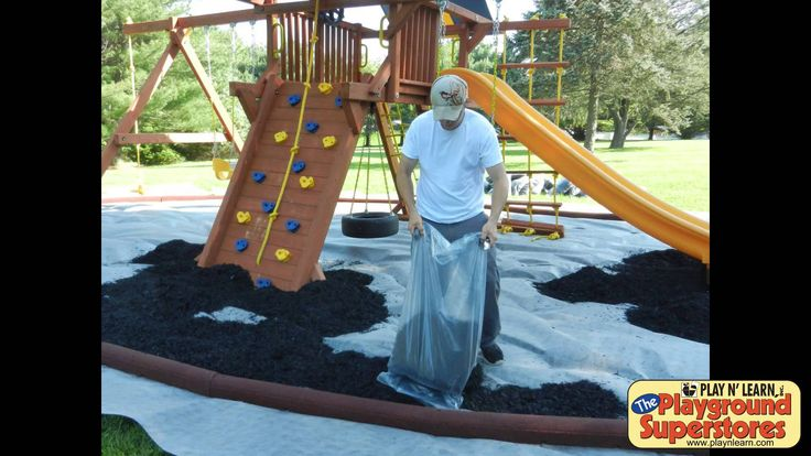 Play N' Learn shows you how to install rubber mulch around your playset. We are making a preset rubber mulch pit under a Play N' Learn Playcenter Supreme. Mo...