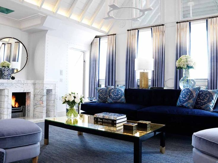 the ombre curtains slay me!Curtains, Dips Dyed, David Collins, Blue, Livingroom, Interiors Design, Living Room, Apartments, Connaught Hotels