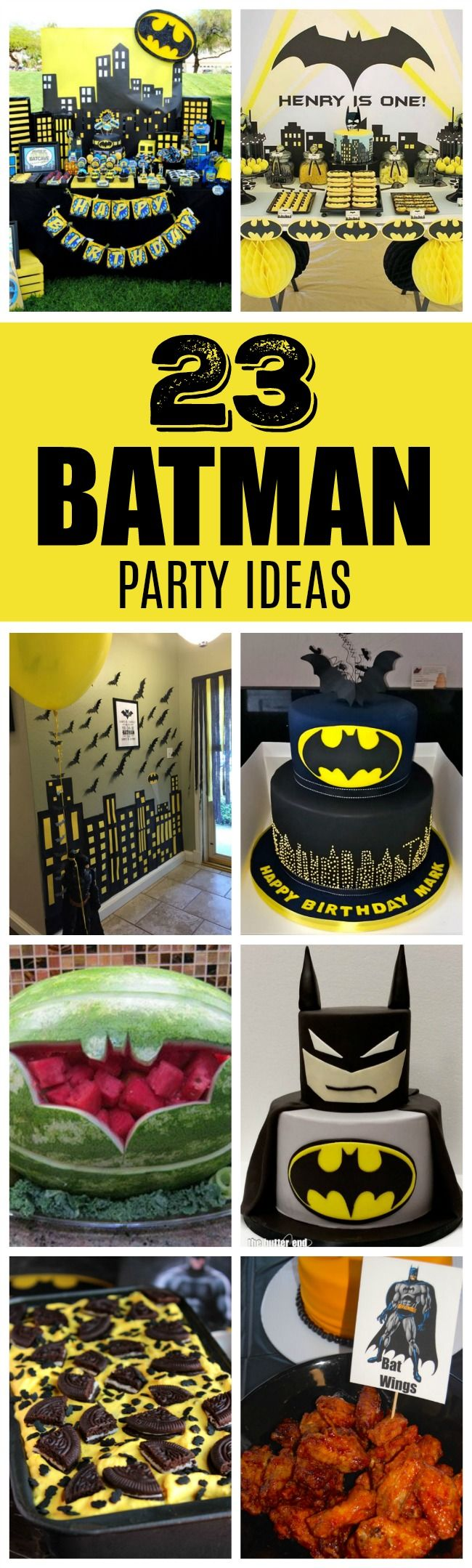 23 Incredible Batman Party Ideas | Pretty My Party