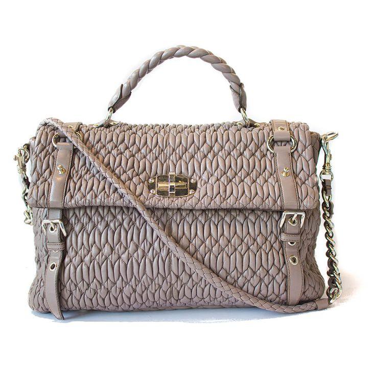 Miu Miu Cloquet Nappa Leather Shopping Tote