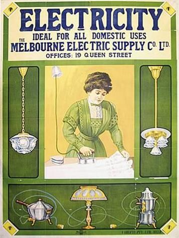 Poster - Electricity, c.1910 #history #melbourne