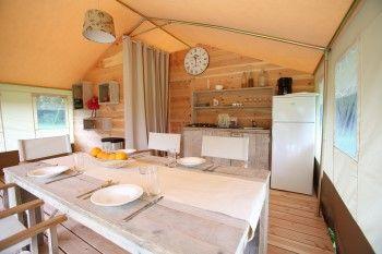 Safaritent huren glamping Kroatië camping Lanterna
