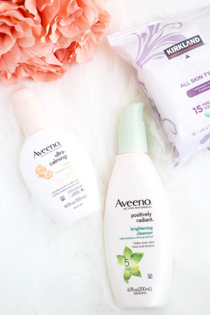 New Skin Care Additions Post. Aveeno Cleanser and hydrating cream.