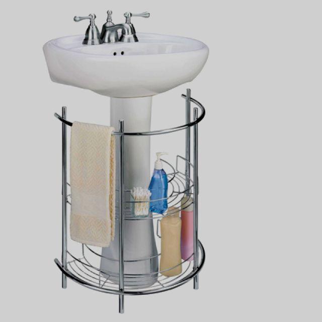 Storage For Under Bathroom Sink: Pedestal Sink Storage