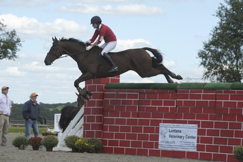 "Jennie Brannigan and No Objection last year clearing 6'2"" and winning the Bareback Puissance. (Photo by Beth Harpham)Hors Stuff, Brannigan Riding, Bareback Jumpingamaz, Equus Caballus, Clear 6 2, Jenny Brannigan, Clear 62, Object Clear, Bareback Puissance"