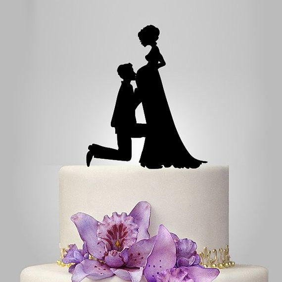 Wedding Cake Topper (Pregnant Bride & Groom Expecting Baby /Couple Pregnancy) Material: Acrylic - Color: Black - Style: Pregnant Bride & Groom Expecting Baby /Couple Pregnancy, Family Love /Sweet Home