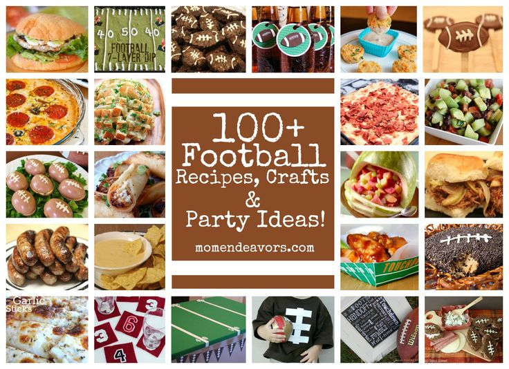 100+ Football ideas! Recipes, crafts, and football party ideas! momendeavors.com