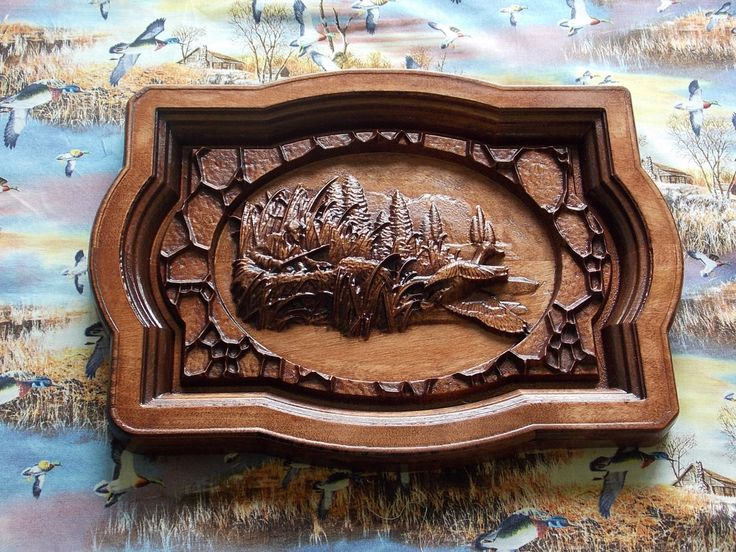 Duck Hunting Wall Hanging.  Wood Wall Art Decor. Duck Hunting Decor.  Hunter's Gift. Woodworking Home Decor. CNC Relief Carving. - $63.75 USD