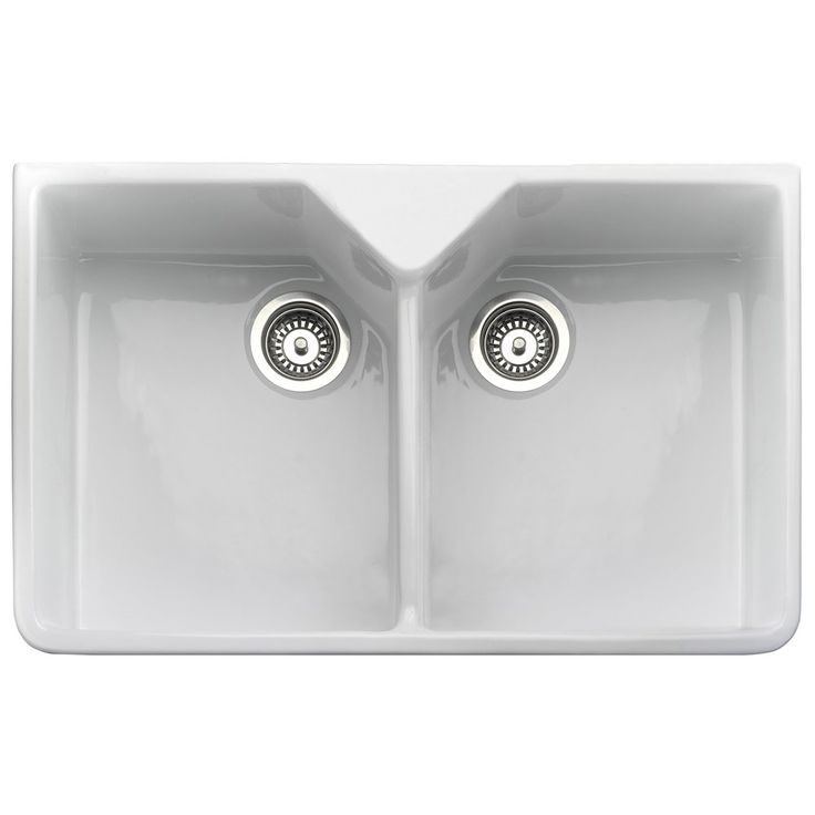 rangemaster belfast 20 bowl white ceramic kitchen sink cdb800wh. Interior Design Ideas. Home Design Ideas