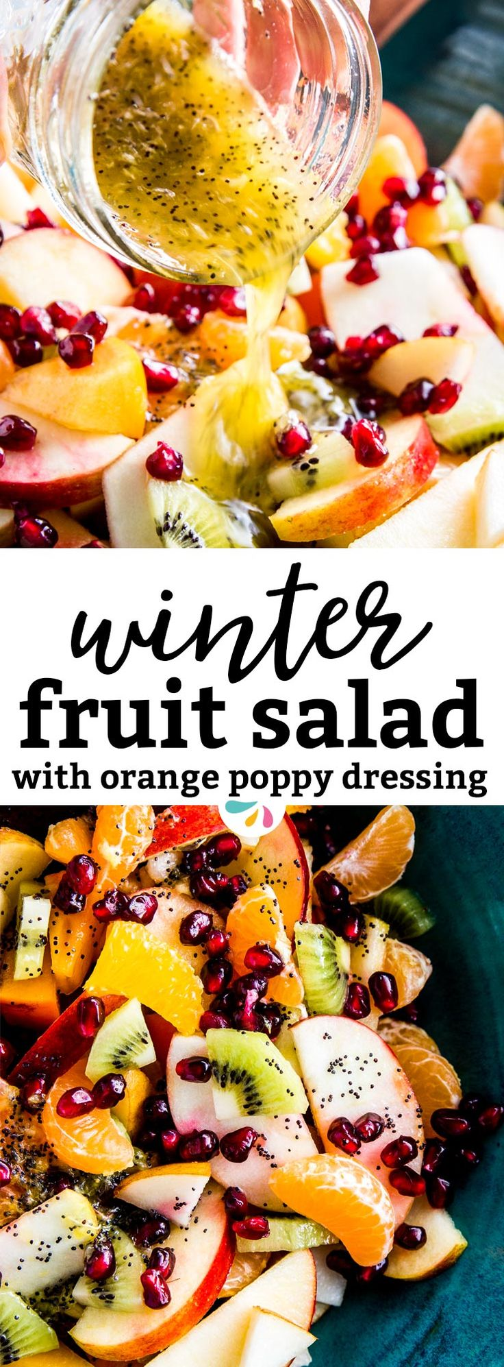 This Winter Fruit Salad is a great way to eat fresh fruit during the colder months. It makes a healthy addition to any Christmas, New Year's or other holiday gathering. It's so quick and easy to make and the dressing tastes absolutely delicious! Learn three tips to make a foolproof fruit salad here: | #recipes #healthy #healthyrecipes