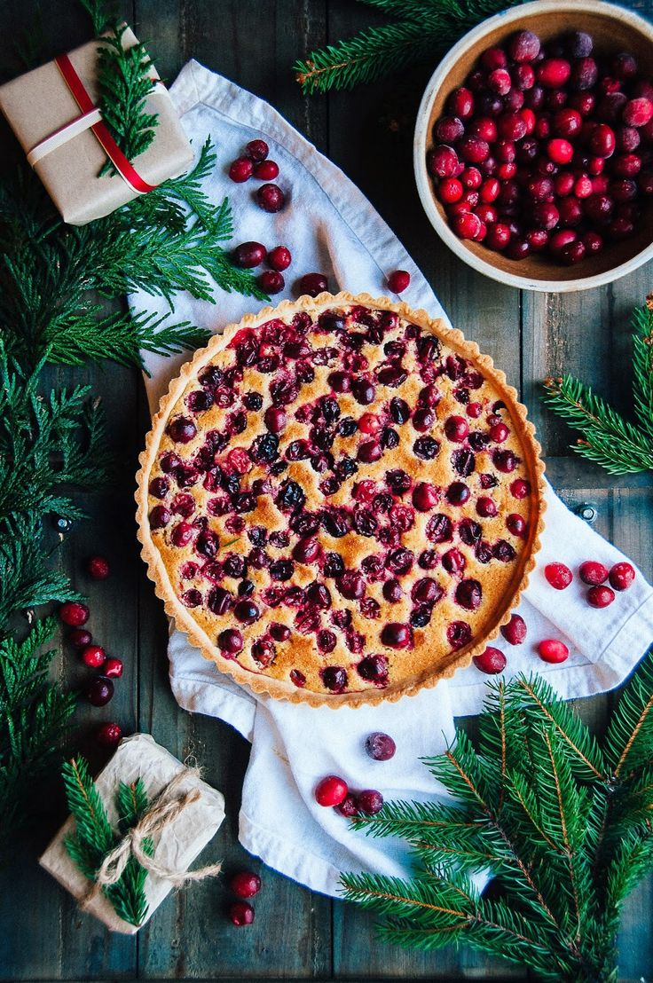 Cranberry Orange Frangipane Tart