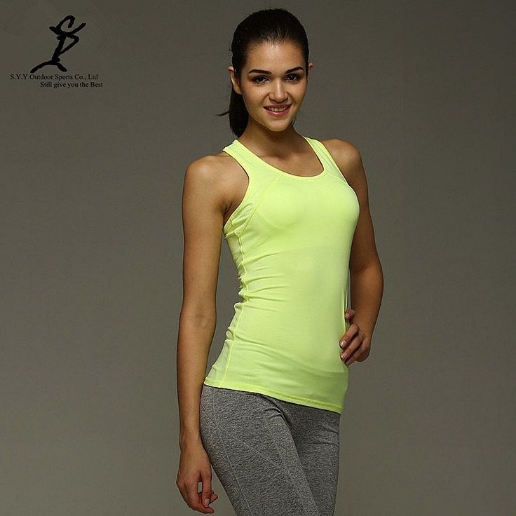 Women Running Tank Tops Girl Yoga T Shirt