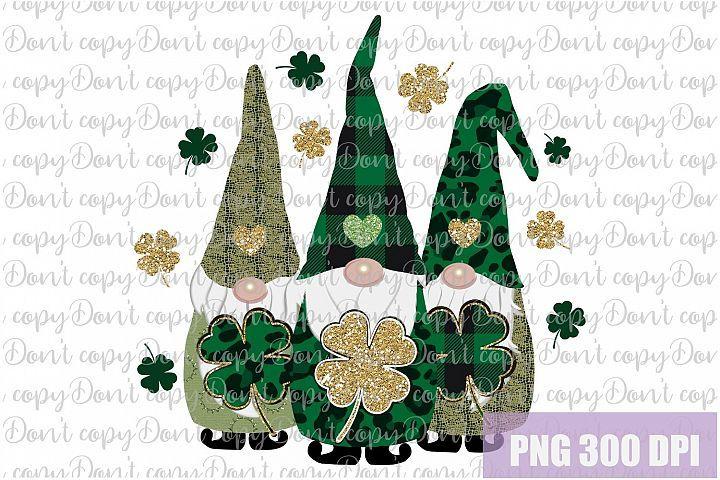 Download St. Patrick's Day Gnomes Shamrock Sublimation PNG Design ...