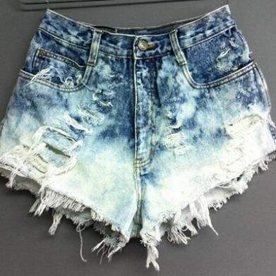 Fashion Hole Sexy Denim Shorts