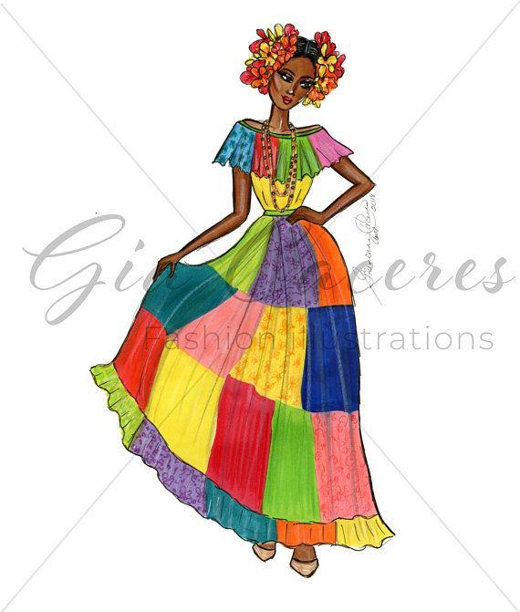 Panama Traditional Congo Dress