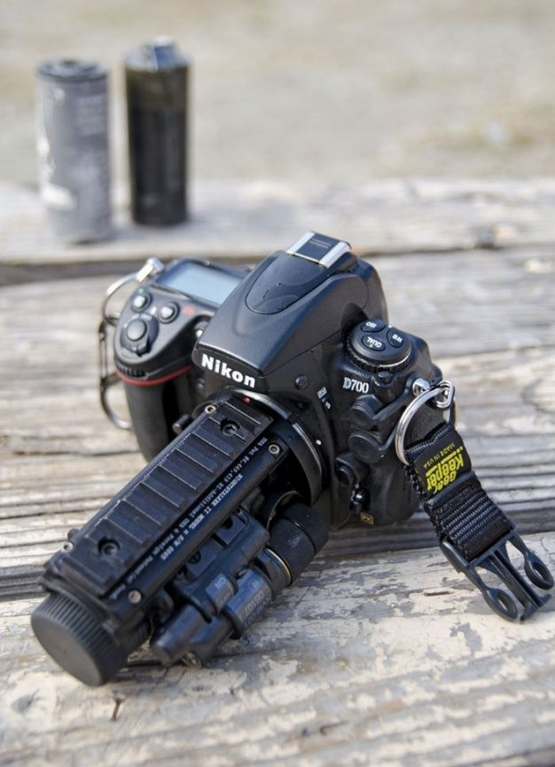 Navy Combat Camera's standard-issue Nikon D700 and Nightstalker II night vision system by Tactical Solutions LLC.