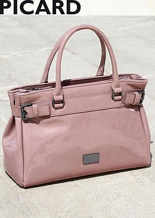 #PICARD #Tasche aus Lacklederimitat in rosé ©Atelier Goldner Schnitt   www.ateliergs.at