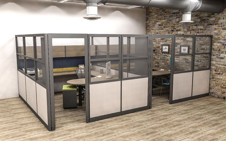 Modular Office Furniture As Private Offices These Tall