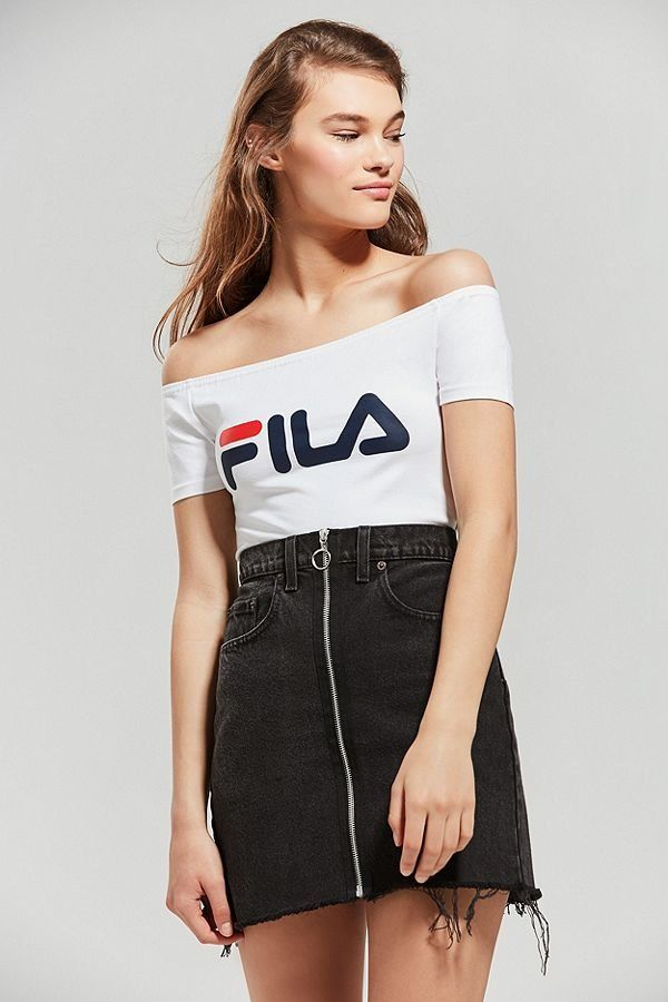 4d46269721ad FILA + UO Skipper Off-The-Shoulder Top | New Arrivals | Fila outfit ...