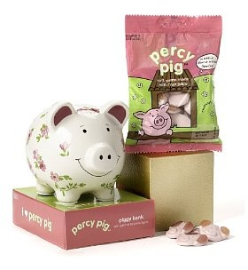 Percy Pig - Ceramic Piggy Bank & Percy Pig Sweets @Katie Parker Easter :)