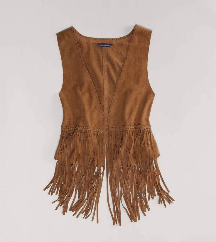 AE Fringed Suede Vest