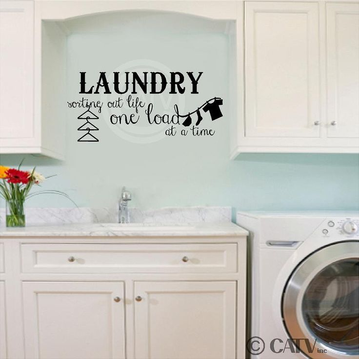 laundry sorting out life one load at a time vinyl lettering quote wall saying sticker art