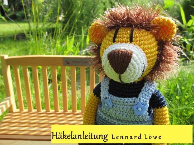 Häkelanleitung Lennard Löwe von Schneckenkind auf DaWanda.com