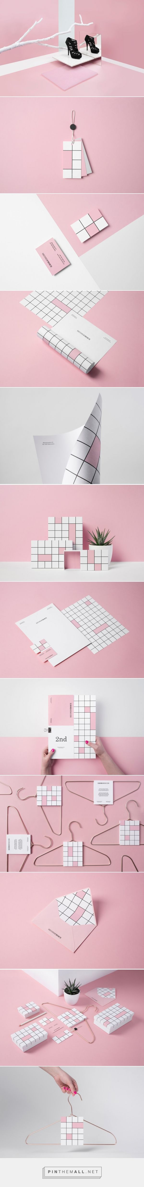 Lovely usage of blocks - Second Choice fashion brand design by Noeeko (Poland) - http://www.packagingoftheworld.com/2016/06/second-choice.html