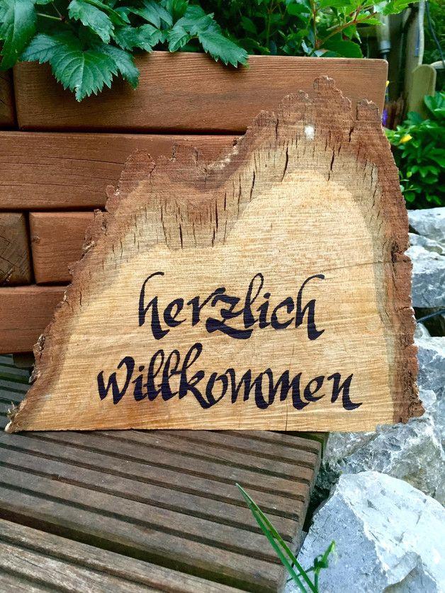 """Schild """"Herzlich Willkommen"""" (Vintage Beauty Products)"""