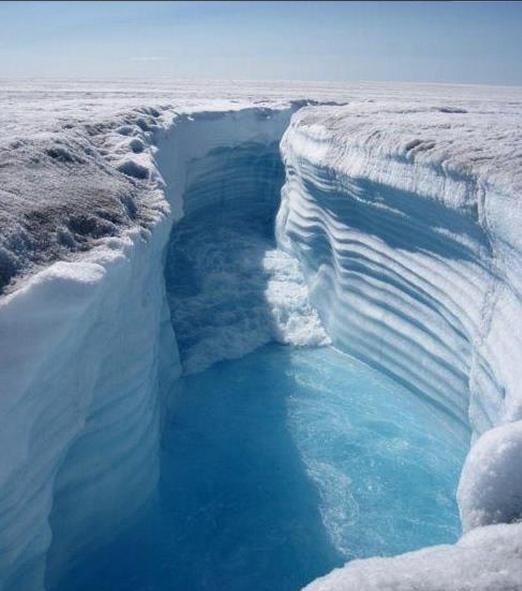 Unha praia de xeo