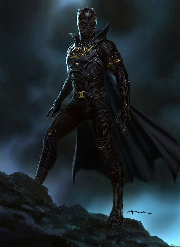 Black Panther- T'Chaka with cape!, Andy Park on ArtStation at https://www.artstation.com/artwork/nRaZo