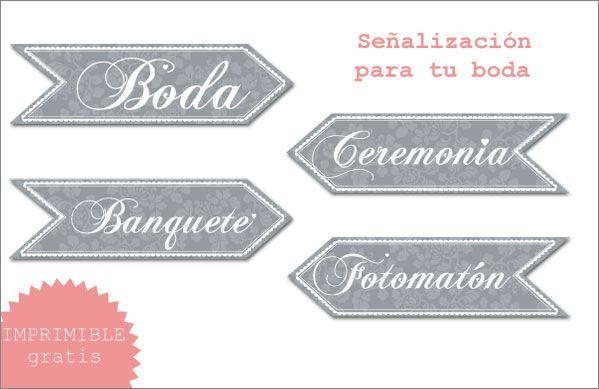 Imprimibles para tu boda - ¡en español! via BodaBella.es