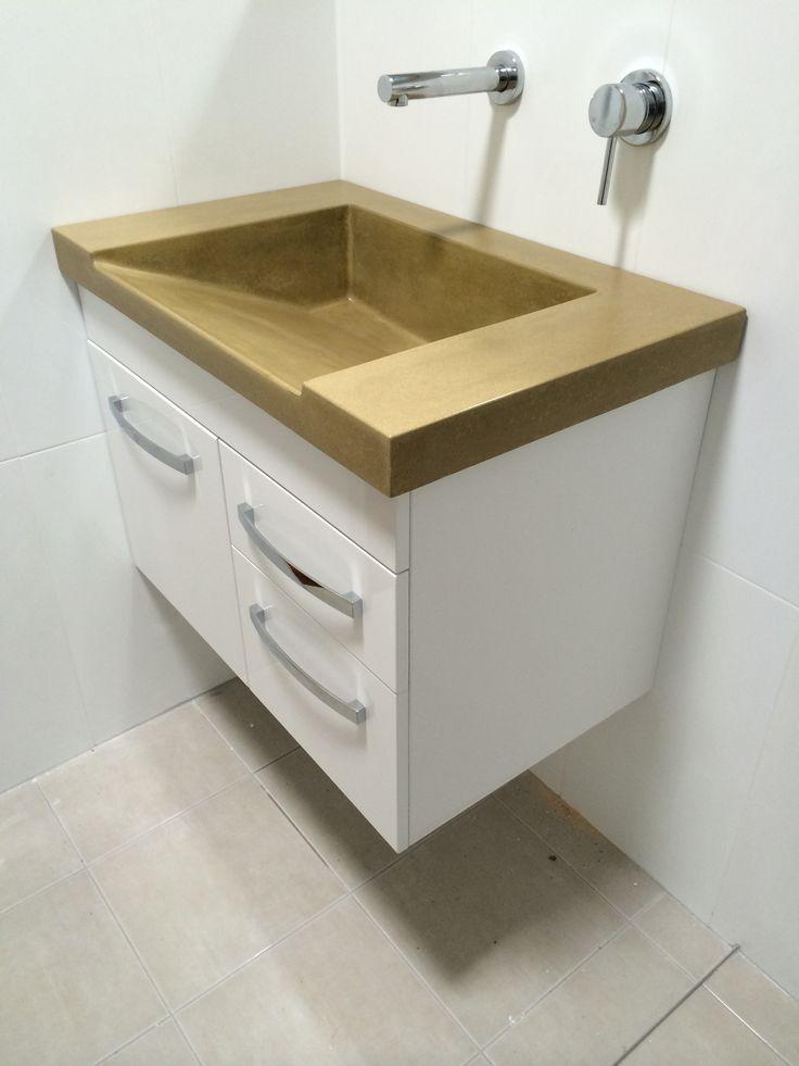 Custom Bathroom Vanities Canberra 40 best polished concrete bathroom vanity tops images on pinterest