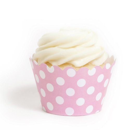 Dress My Cupcake Pink Polka Dot Cupcake Wrappers, Set of 12:   Dress My Cupcake is the world's largest manufacturer of designer cupcake wrappers. We offer cupcake wrappers in over 500 different colors and styles that are best-sellers, worldwide. Dress My Cupcake's designer wrappers and products have been featured in platinum events hosted by clients such as the Four Seasons Hotel, CBS, the Cleveland Cavaliers, John Deere, Fisher-Price, and the Miami Dolphins.  Our cupcake wrappers prov...
