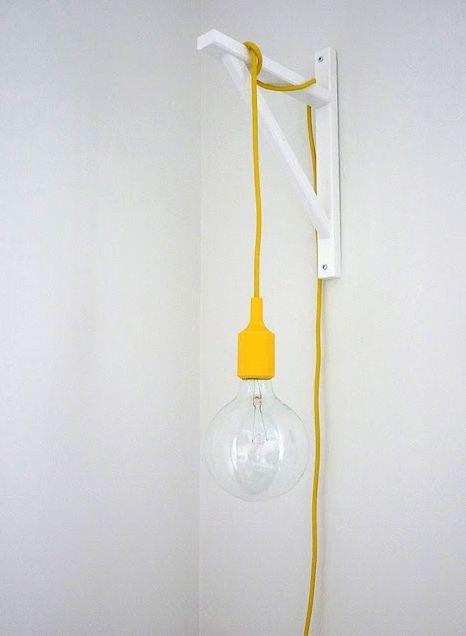 suporte para luminaria quarto