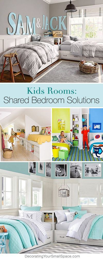 Kids Rooms: Shared Bedroom Solutions