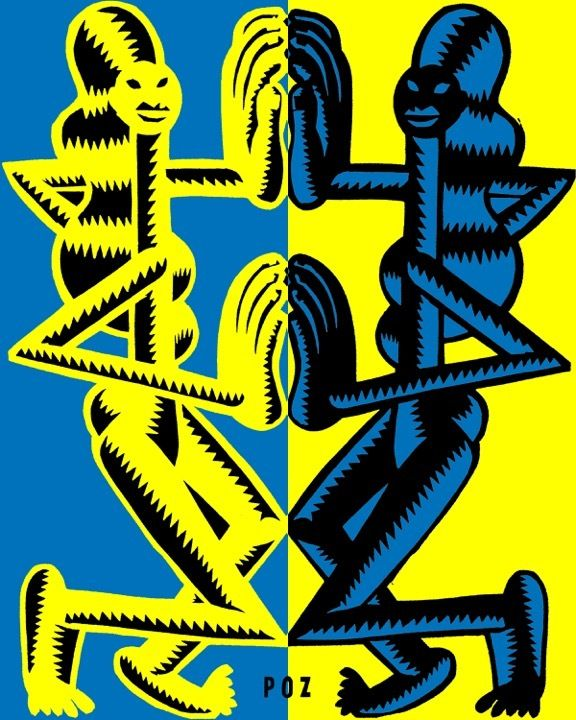Illustrator Peter O Zierlein uses symmetry to make his graphic prints pop.