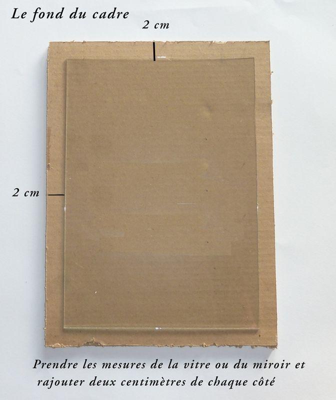 Comment faire un cadre ou un miroir en carton ......