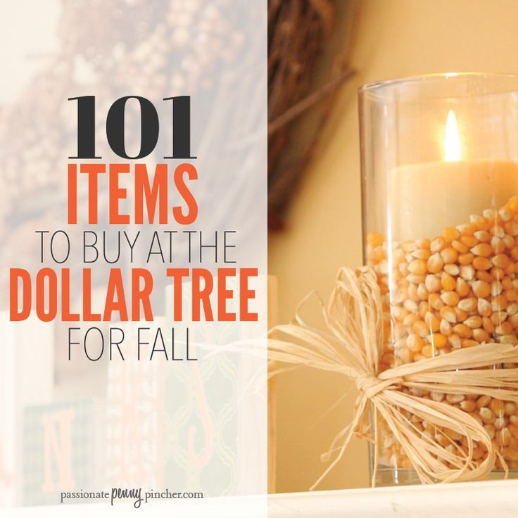 101 Items To Buy at the Dollar Tree This Fall