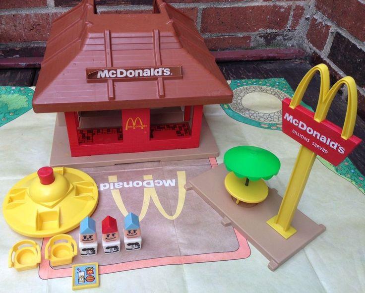 Vintage 1974 PLAYSKOOL Familiar Places McDonald's Restaurant Play Set Toy  | eBay