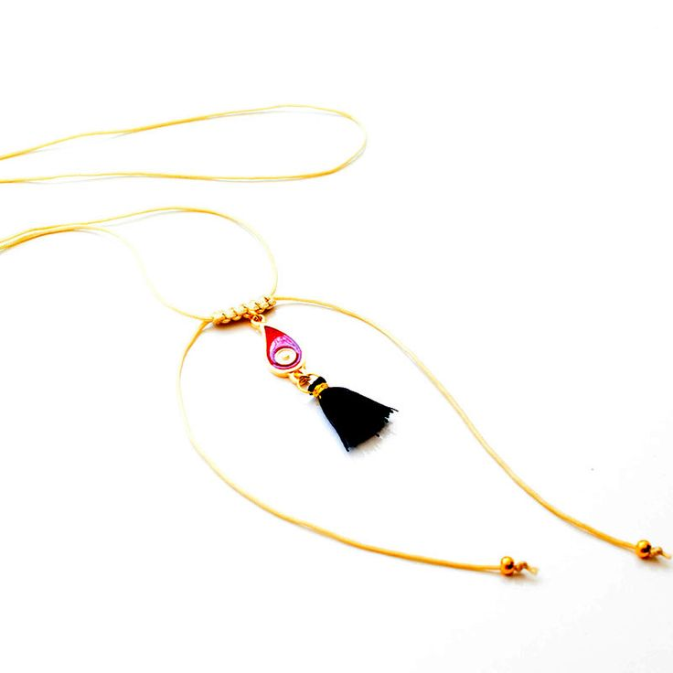 #Red #Drop #Handmade #Macrame #Necklace #Χειροποίητο #Κολιέ με #Κορδόνι #Μακραμέ και #Κόκκινο #Ματάκι  Get it @ http://goo.gl/rMNKee