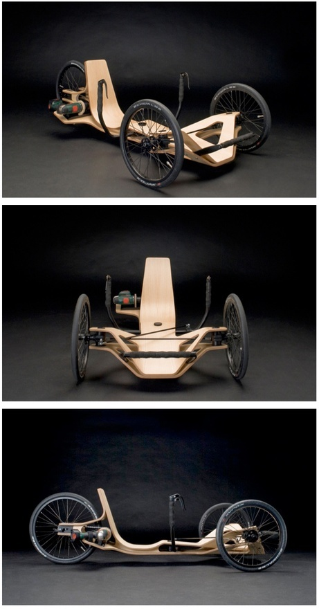 Rennholz Vehicle Concept :: Powered by Bosch.  This is what happens when an Eames chair gets tired of sitting around and sprouts some tiresand a cordless drill for an engine. megadeluxe