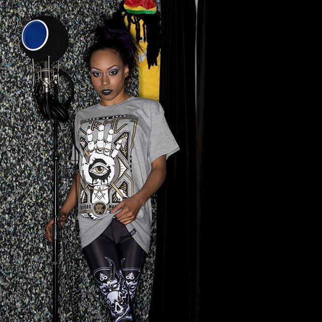 """Teethed Glory"" Tee & CRMC X Julian Akbar ""Satan's Waitin'"" Leggings Available at www.crmc-clothing.co.uk | WE SHIP WORLDWIDE Model - Evie Cherrie Louise Photography by J Style #leggings #loveleggings #fashionstatement #occult #allseeingeye #fashionista #esoteric #fashion #alternativeblackgirl #blackmodel #blackgirlsrock #beautifulblackwomen #cute #instacute #beautiful #dailyfashion #styles #style #alternativegirl #alternativeteen #alternativeboy #Baphomet #love #fashionblog #fashionblogger"