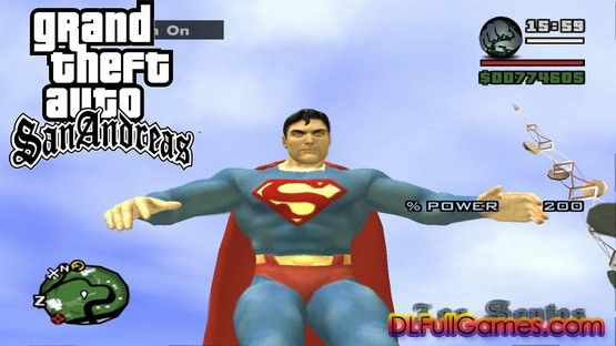 Free Download GTA San Andreas Superman Mod Pc Game