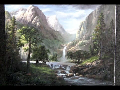 Snowy Mountain   Paint with Kevin Hill   artist oil painting - YouTube